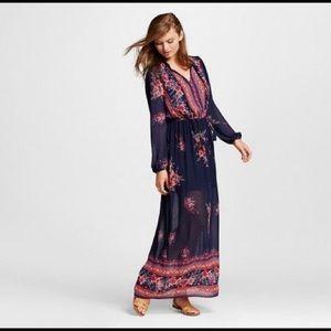 Xhilaration Boho Style Floral Maxi Dress